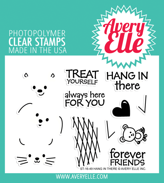 Avery Elle Hang In There Clear Stamps