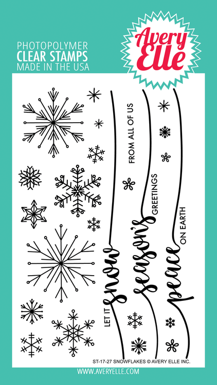 Avery Elle Snowflakes Clear Stamps