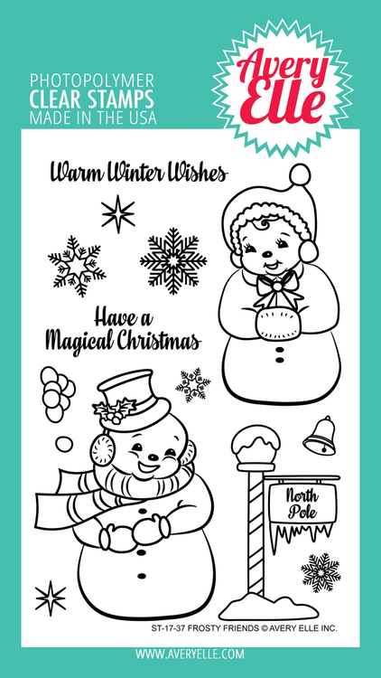 Avery Elle Frosty Friends Clear Stamps