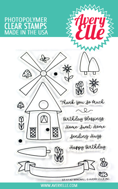 Avery Elle Windmill Clear Stamps