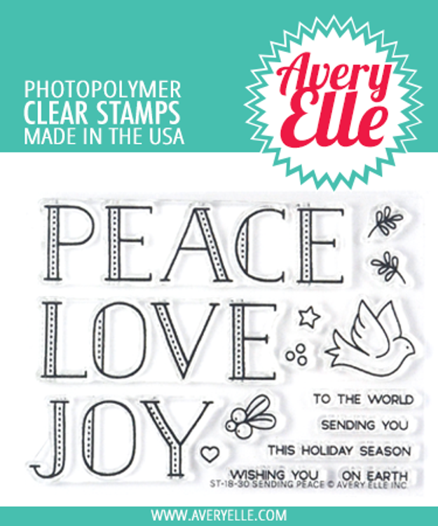 Avery Elle Sending Peace Clear Stamps