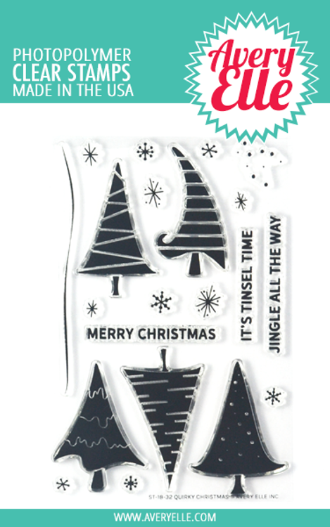 Avery Elle Quirky Christmas Clear Stamps