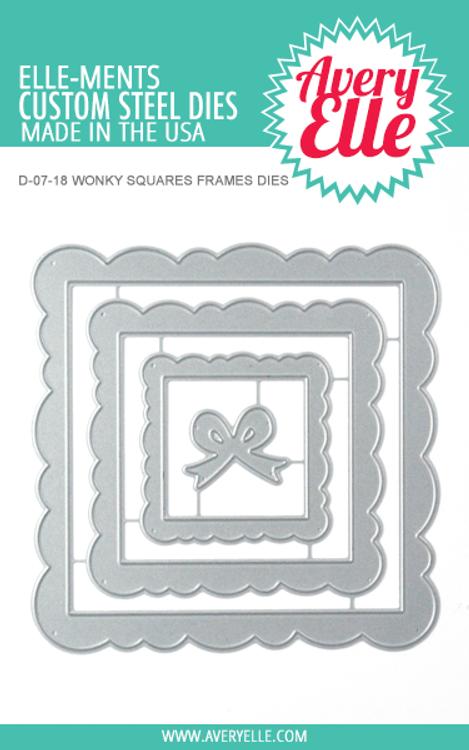 Avery Elle Wonky Squares Frames Dies