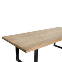 DINING TABLE INDUSTRIAL WALNUT (F087)