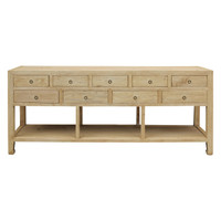 CONSOLE TABLE NINE DRAWER (EC200)