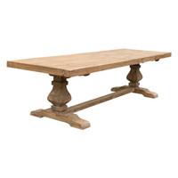 DINING TABLE PEDESTAL ELM 2.7M (F098)