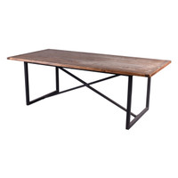 DINING TABLE ELM TOP (F140)