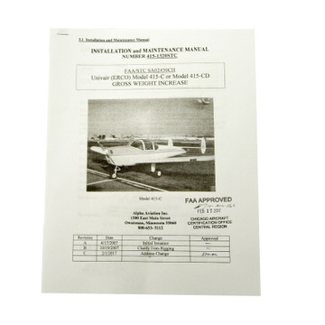 Ercoupe Gross Weight Increase - LSA # 1320 STC