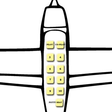 Cessna Cardinal 177 - Rear Fixed Strap