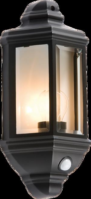IP33 60W Die-Cast Aluminium Clear Glass Wall lantern with PIR Sensor