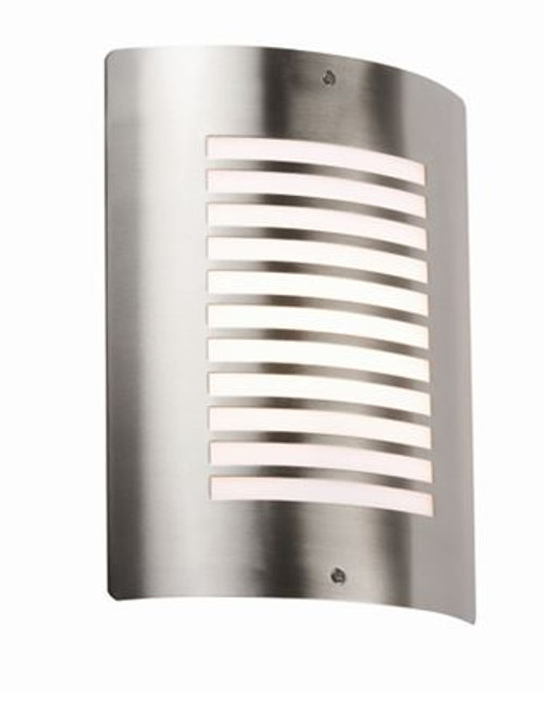 240V IP44 E27 40W max. Stainless Steel Outdoor Wall Fixture