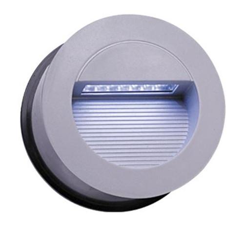 IP44 14 x White LED Grey Aluminium Round Recessed Wall Light