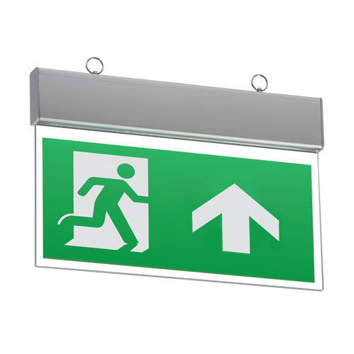 230V IP20 Ceiling Mounted LED Emergency Exit Sign (maintained/non-maintained)