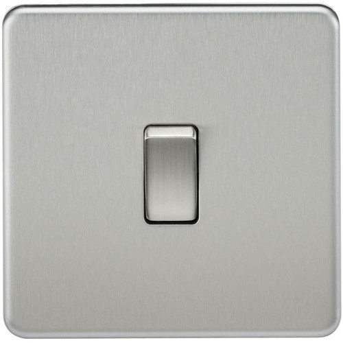 Screwless 10A 1G 2-Way Switch - Brushed Chrome (DFL1SF2000BC)