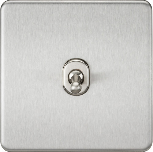 Screwless 10A 1G 2-Way Toggle Switch - Brushed Chrome (DFL1SF1TOGBC)