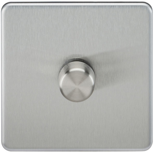 Screwless 1G 2-Way 40-400W Dimmer Switch - Brushed Chrome (DFL1SF2171BC)