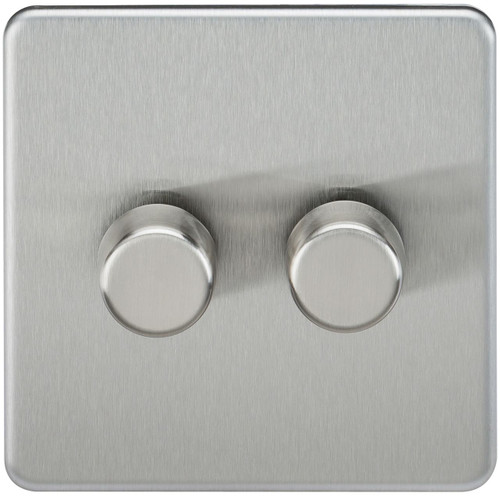 Screwless 2G 2-Way 40-400W Dimmer Switch - Brushed Chrome (DFL1SF2172BC)