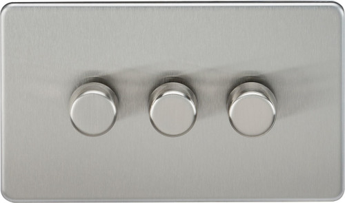 Screwless 3G 2-Way 40-400W Dimmer Switch - Brushed Chrome (DFL1SF2173BC)