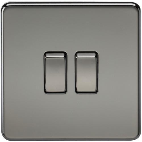 Screwless 10A 2G 2-Way Switch - Black Nickel (DFL1SF3000BN)