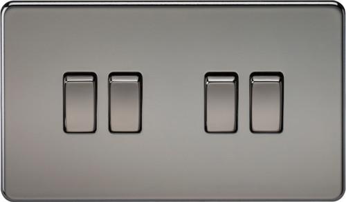 Screwless 10A 4G 2-Way Switch - Black Nickel (DFL1SF4100BN)