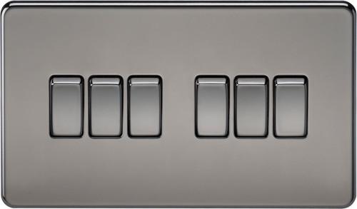 Screwless 10A 6G 2-Way Switch - Black Nickel (DFL1SF4200BN)