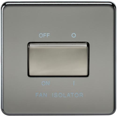 Screwless 10A 3 Pole Fan Isolator Switch - Black Nickel (DFL1SF1100BN)
