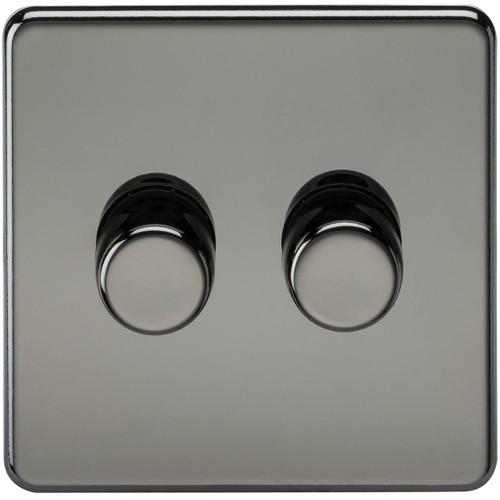Screwless 2G 2-Way 40-400W Dimmer Switch - Black Nickel (DFL1SF2172BN)
