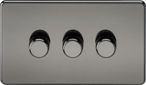 Screwless 3G 2-Way 40-400W Dimmer Switch - Black Nickel (DFL1SF2173BN)