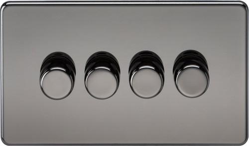 Screwless 4G 2-Way 40-400W Dimmer Switch - Black Nickel (DFL1SF2174BN)