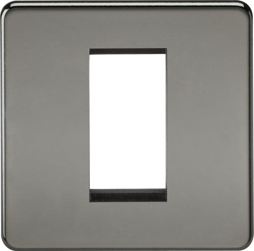 Screwless 1G Modular Faceplate - Black Nickel (DFL1SF1GBN)
