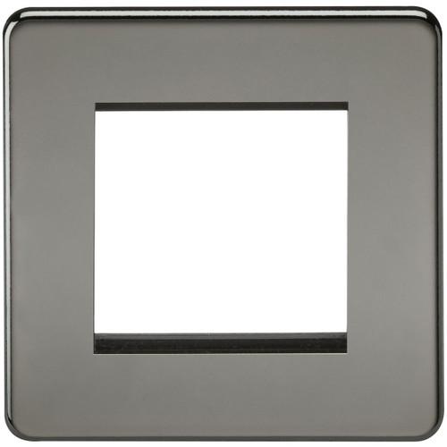 Screwless 2G modular faceplate - Black Nickel (DFL1SF2GBN)