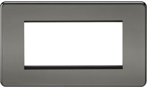 Screwless 4G Modular Faceplate - Black Nickel (DFL1SF4GBN)