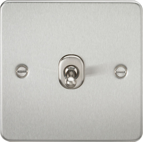 Flat Plate 10A 1G Intermediate Toggle Switch - Brushed Chrome (DFL1FP12TOGBC)