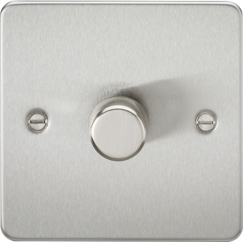 Flat Plate 1G 2-Way 40-400W Dimmer Switch - Brushed Chrome (DFL1FP2171BC)