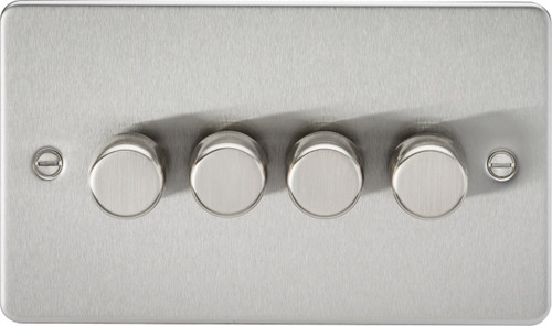Flat Plate 4G 2-Way 40-400W Dimmer Switch - Brushed Chrome (DFL1FP2174BC)