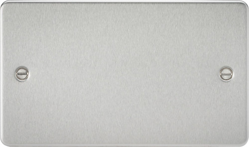 Flat Plate 2G Blanking Plate - Brushed Chrome (DFL1FP8360BC)