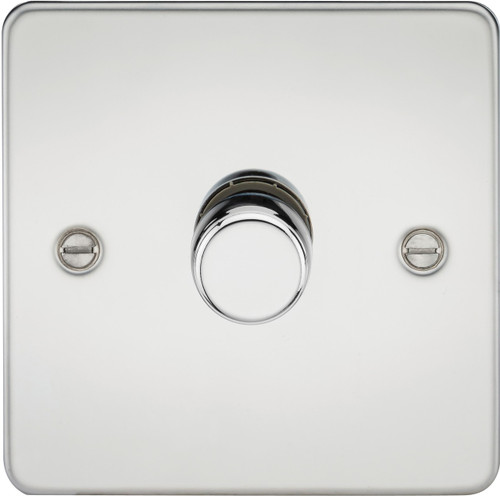 Flat Plate 1G 2-Way 40-400W Dimmer Switch - Polished Chrome (DFL1FP2171PC)