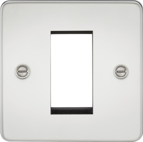 Flat Plate 1G Modular Faceplate - Polished Chrome (DFL1FP1GPC)