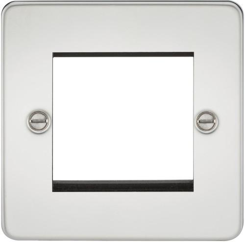Flat Plate 2G modular faceplate - Polished Chrome (DFL1FP2GPC)
