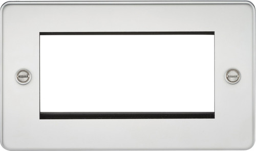 Flat Plate 4G Modular Faceplate - Polished Chrome (DFL1FP4GPC)