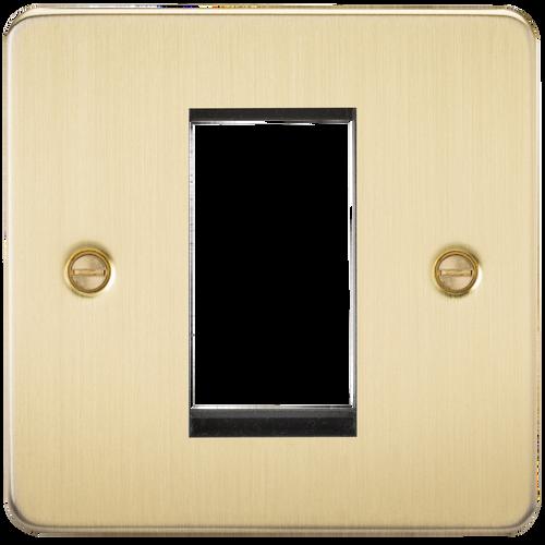 Flat Plate 1G Modular Faceplate - Brushed Brass (DFL1FP1GBB)