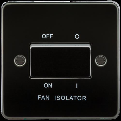 Flat Plate 10A 3 Pole Fan Isolator Switch - Gunmetal (DFL1FP1100GM)
