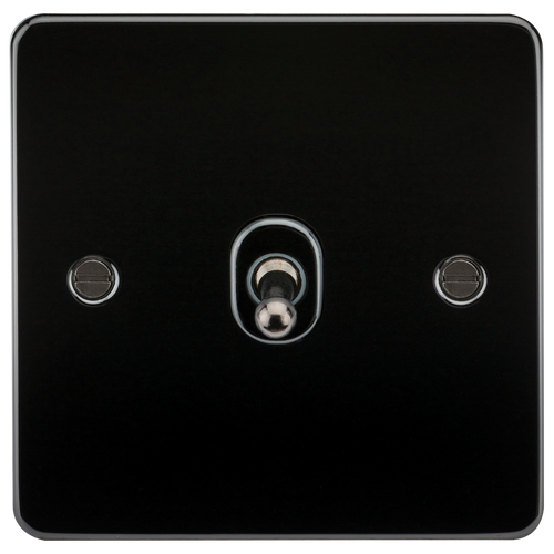 Flat Plate 10A 1G 2-Way Toggle Switch - Gunmetal (DFL1FP1TOGGM)