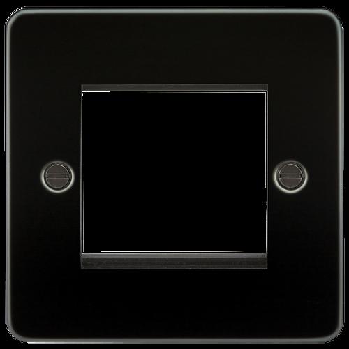 Flat Plate 2G modular faceplate - Gunmetal (DFL1FP2GGM)