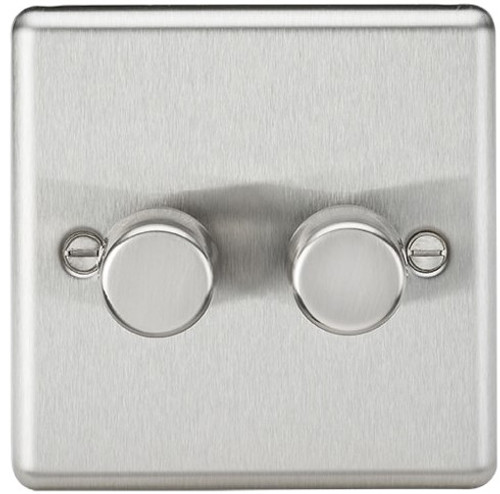2G 2-Way 40-400W Dimmer Switch - Rounded Edge Brushed Chrome (DFL1CL2172BC)