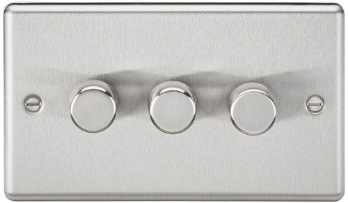 3G 2-Way 40-400W Dimmer Switch - Rounded Edge Brushed Chrome (DFL1CL2173BC)