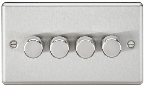 4G 2-Way 40-400W Dimmer Switch - Rounded Edge Brushed Chrome (DFL1CL2174BC)