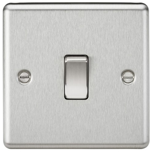 20A 1G DP Switch - Rounded Edge Brushed Chrome (DFL1CL834BC)