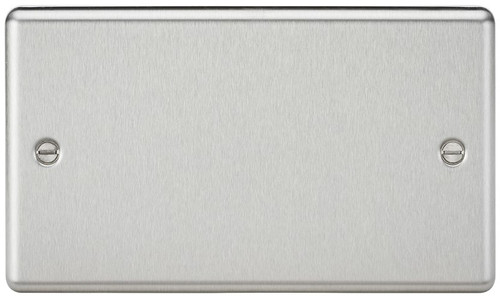 2G Blanking Plate - Rounded Edge Brushed Chrome (DFL1CL86BC)