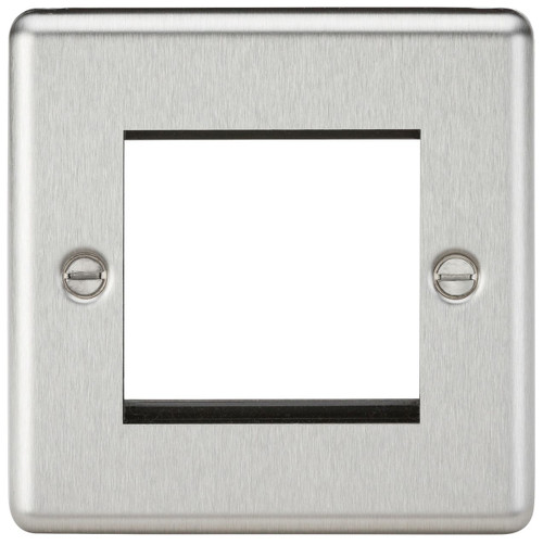 2G modular faceplate - Rounded Edge Brushed Chrome (DFL1CL2GBC)